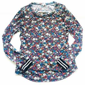 BKE long sleeve floral Shirt   SZ LG